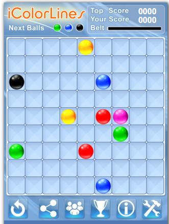 Игра Цветные Линии - играть онлайн бесплатно