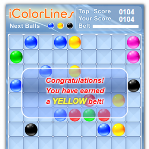 how score is calculated at color lines game