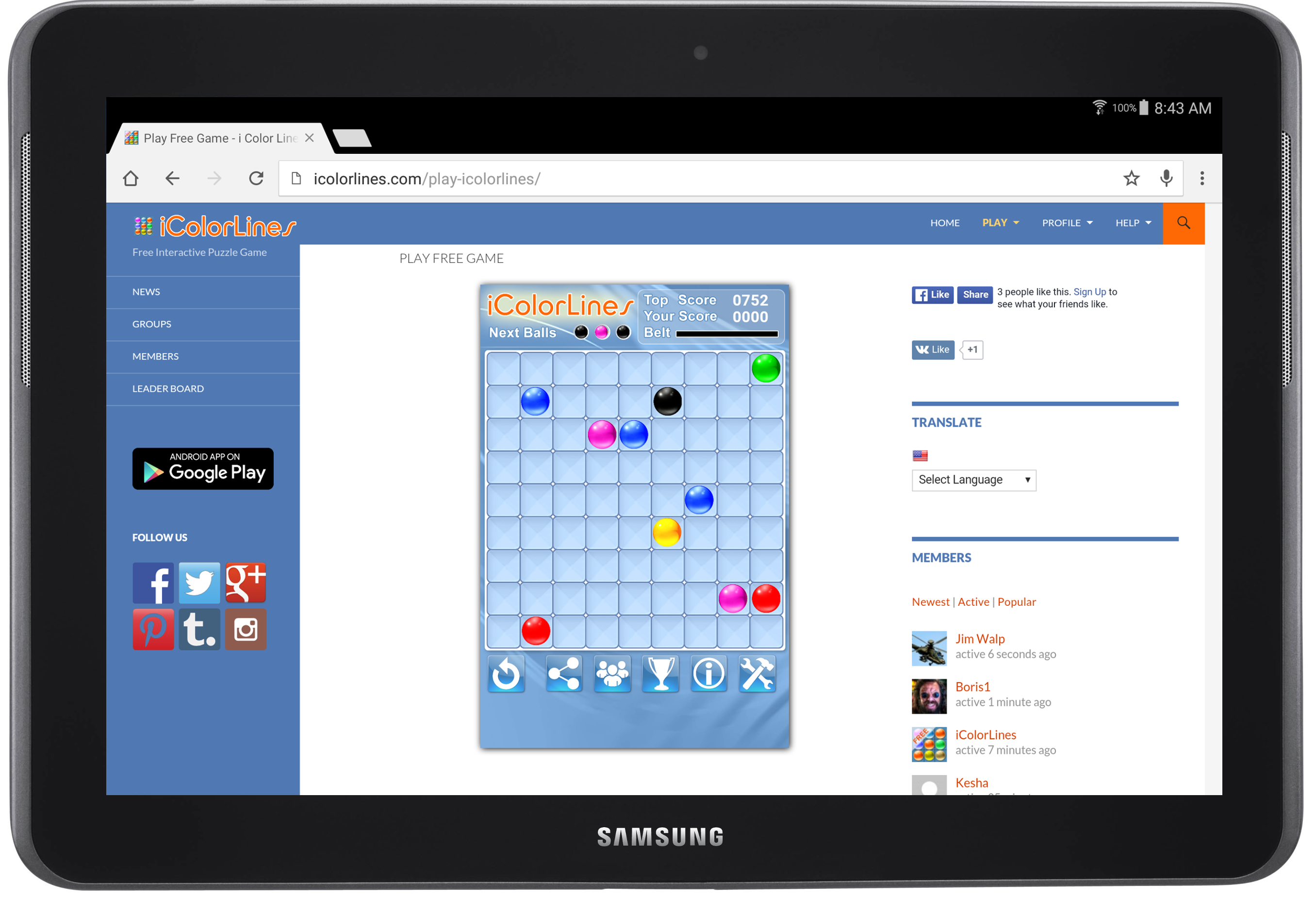color lines game online i color lines puzzle game