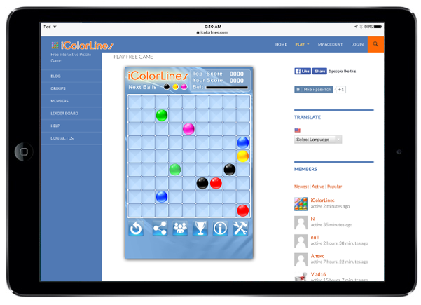 icolorlines puzzle game ipad