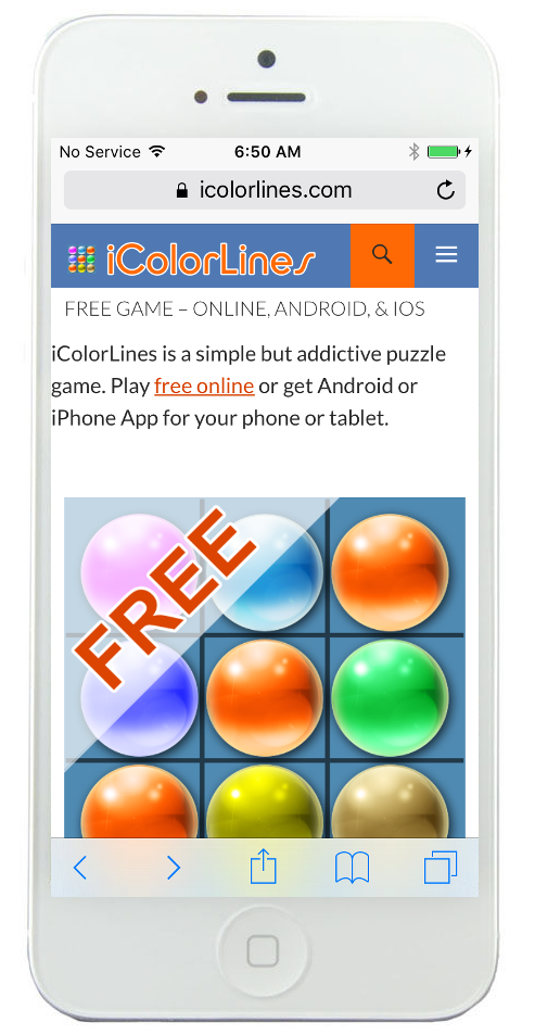 icolorlines puzzle game online iphone