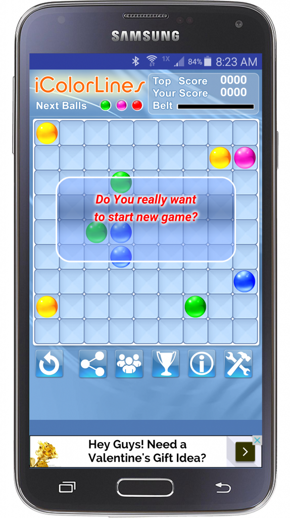icolorlines puzzle game start new