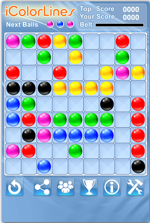 Ball Lines I Color Lines Puzzle Game