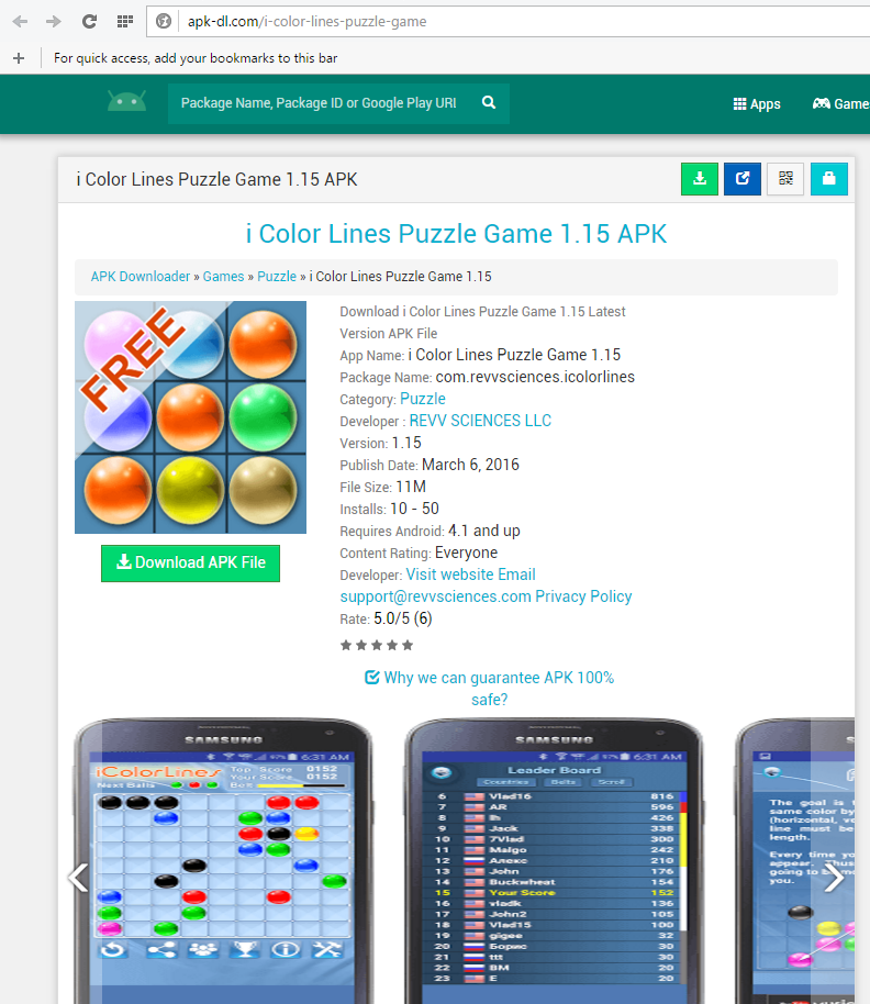 color lines puzzle game android app apk-dl review