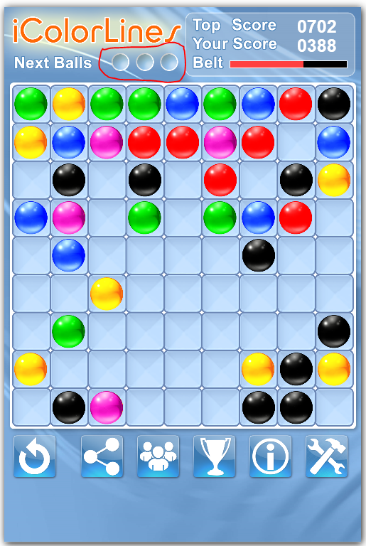color lines puzzle game increase your score strategy