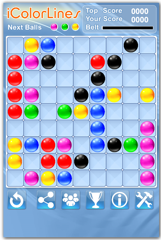 keep at least three almost completed color lines game strategy