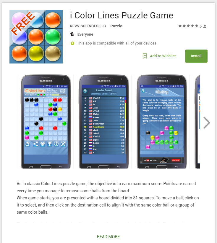 Lines android app on google play