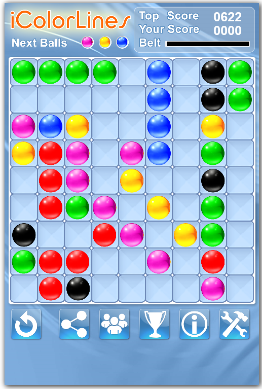 weekly puzzle color lines game solve score number of moves
