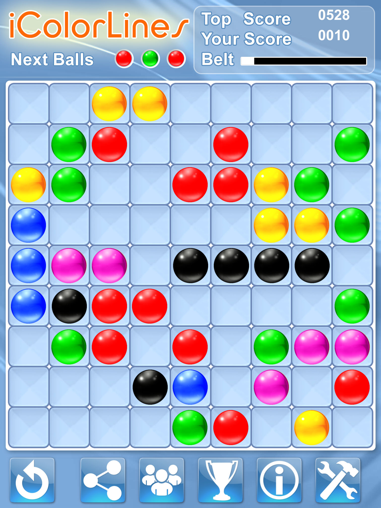 i Color Lines Puzzle Game available on the App Store