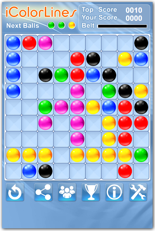 Sunday Puzzle i Color Lines Puzzle Game