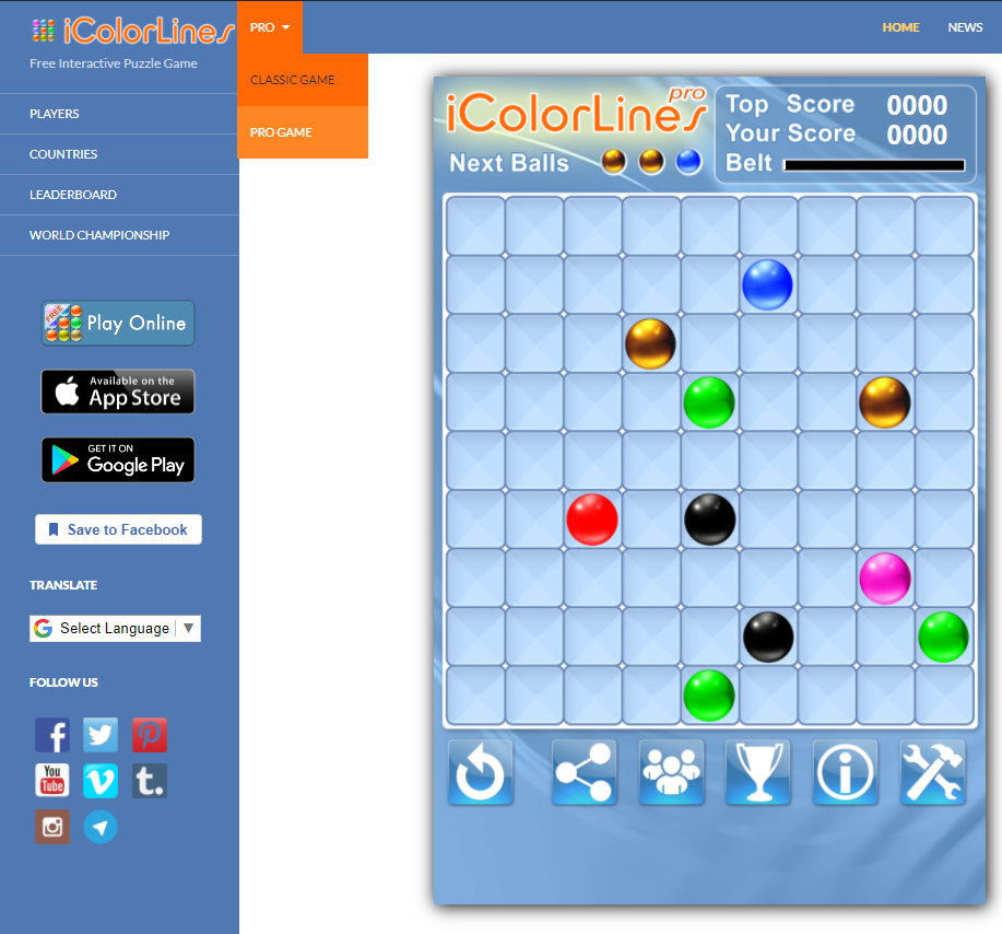 FREE PRO Version of i Color Lines Puzzle Game